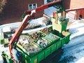 Mini-container-systeem type MC 500 - ca. 1000x1200x500 mm (lxbxh)/inhoud 0,5 m³/draagkracht 2000 kg/in elkaar stapelbaar/gecontroleerde lediging met grijptang