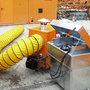 Mobicont  type MW 800 - ca. 1285x1015x1310 mm (lxbxh)/inhoud 800 liter/3-voudig stapelbaar/voor de voorziening van heteluchtkachels met stookolie voor binnen en buiten