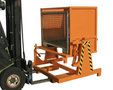 Kiepapparaat voor containers type KGM gelakt - met elke vorkheftruck snel inzetbaar/mechanische uitvoering/geen omslachtige speciale inrichtingen aan heftruck nodig